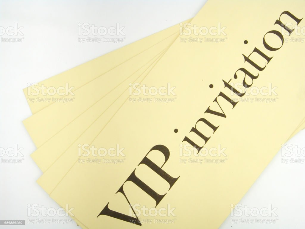 VIP invitation stock photo