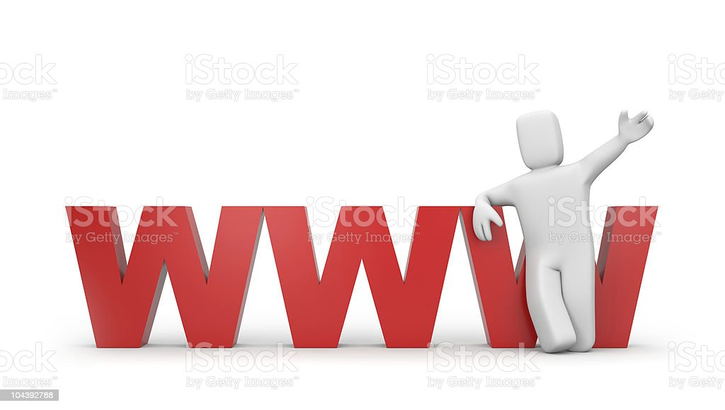 Invitation to the world wide web royalty-free stock photo