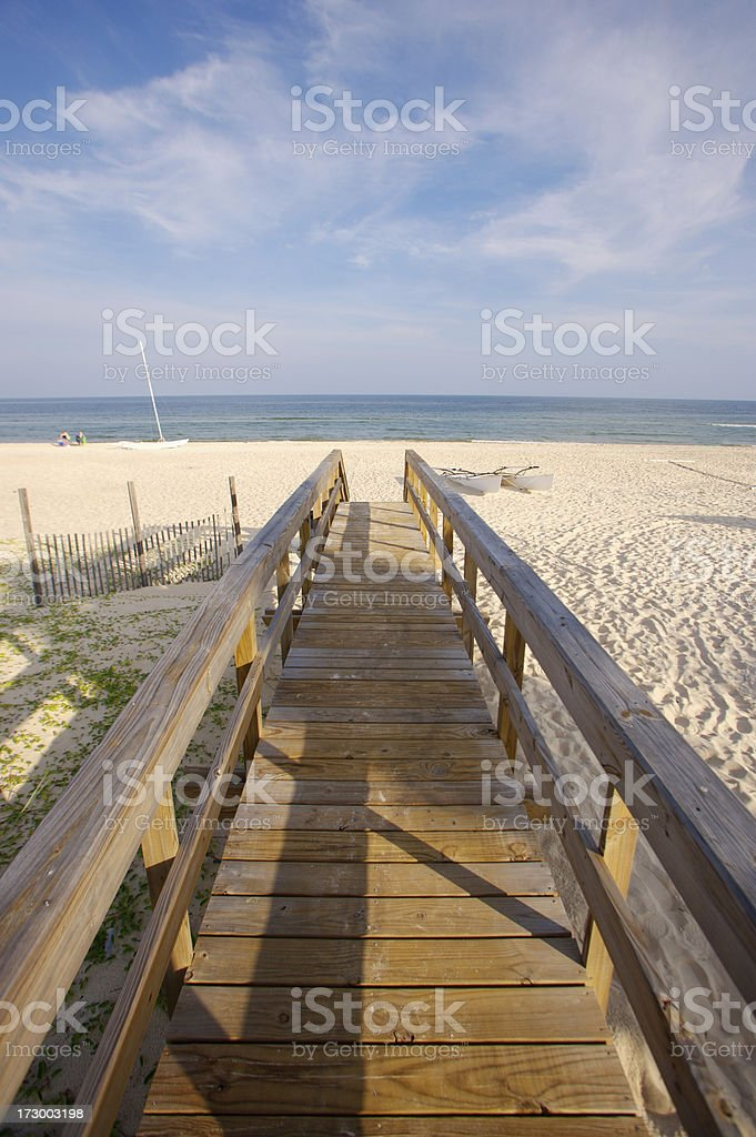 Inviting beach life royalty-free stock photo