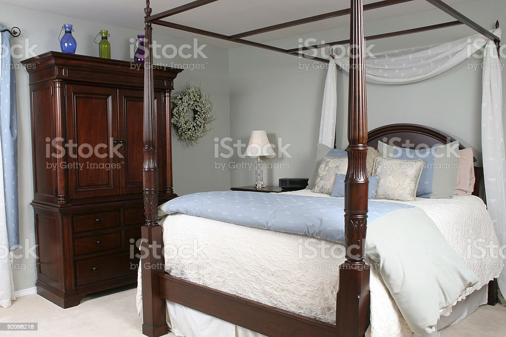 Inviting Bedroom royalty-free stock photo