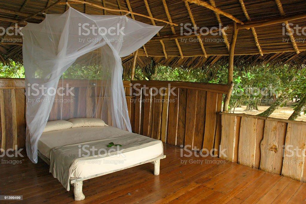 Inviting hut at eco-resort royalty-free stock photo