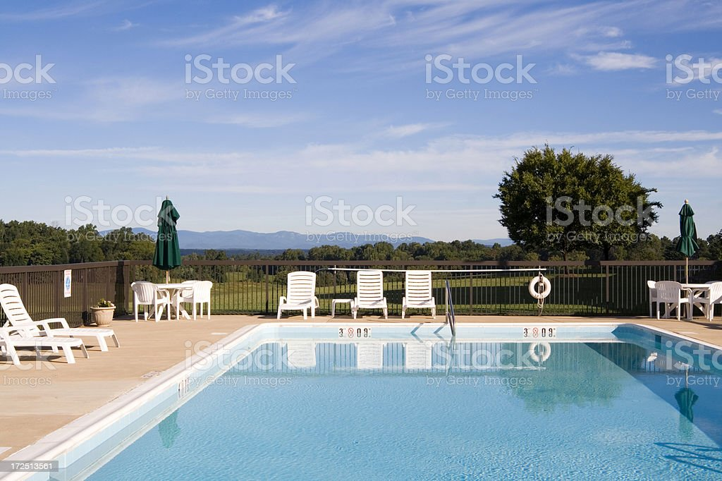 Inviting pool royalty-free stock photo