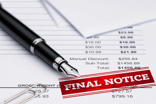 Financial Bill, Past Due, Fountain Pen, Document, Pen