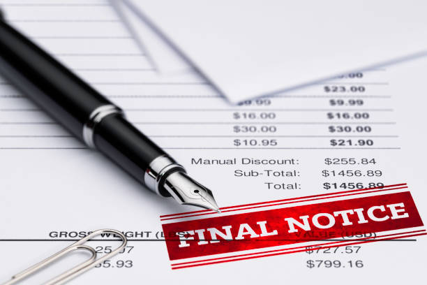 Invoice Final Notice Financial Bill, Past Due, Fountain Pen, Document, Pen signature collection stock pictures, royalty-free photos & images