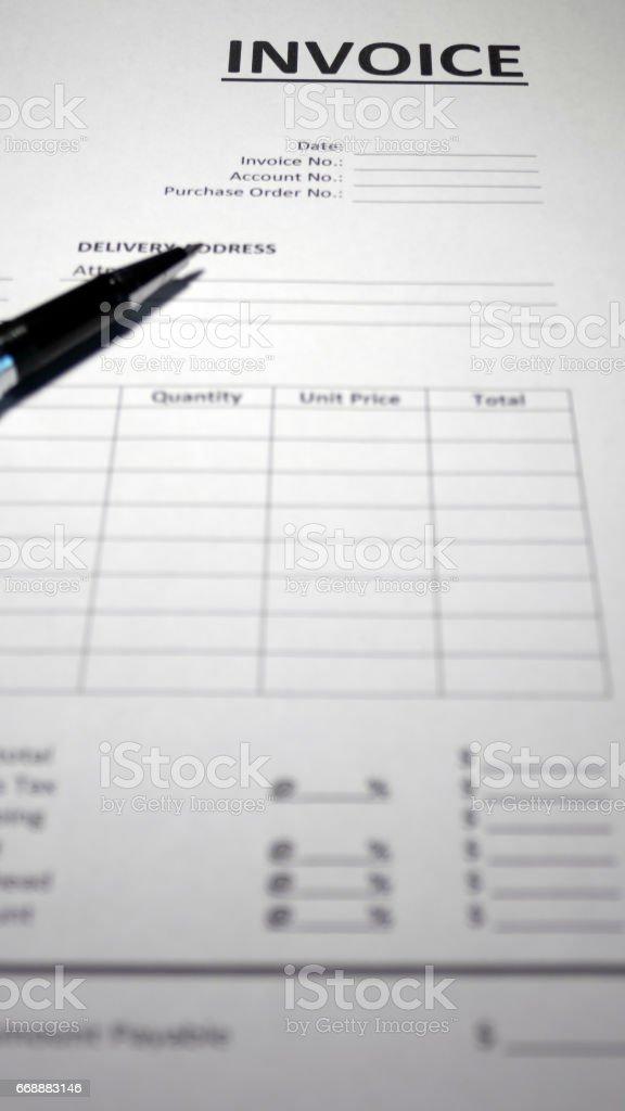 Invoice Form - Photo