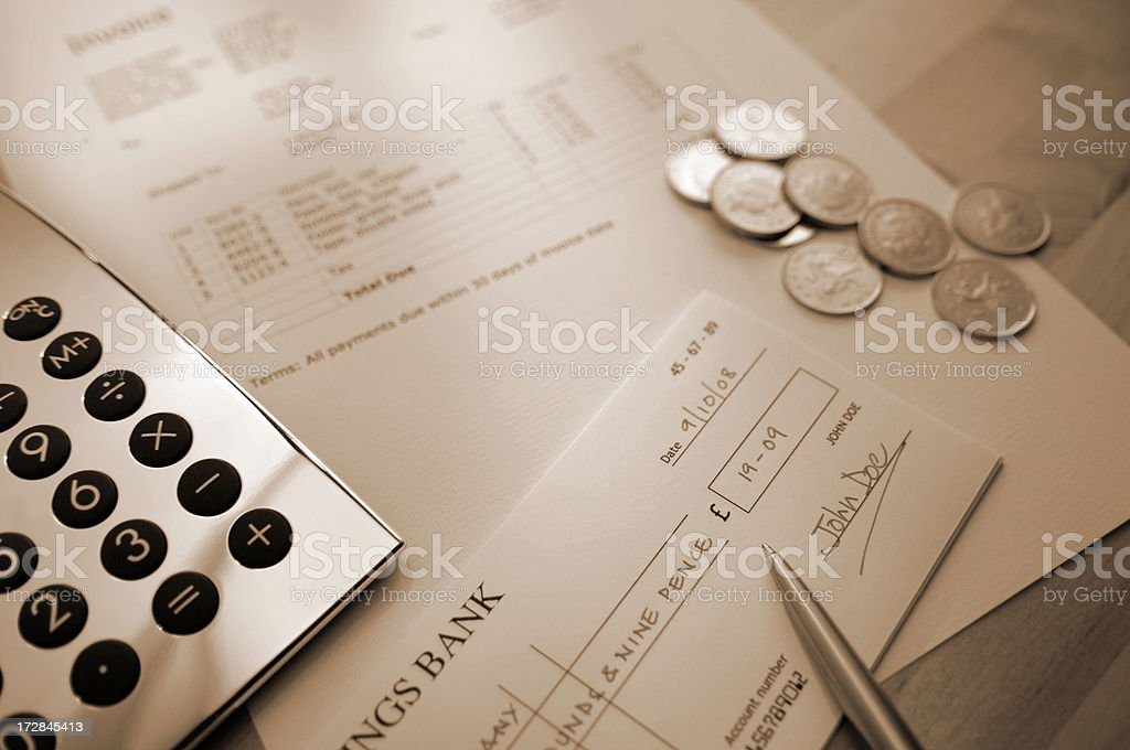 invoice series royalty-free stock photo