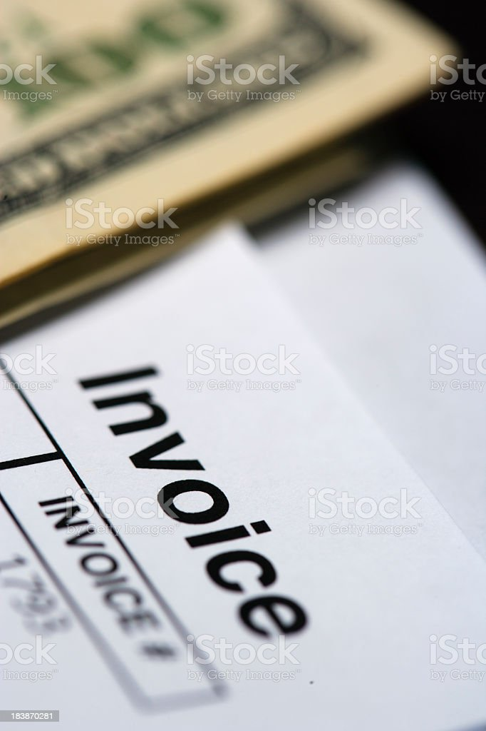 Invoicee royalty-free stock photo
