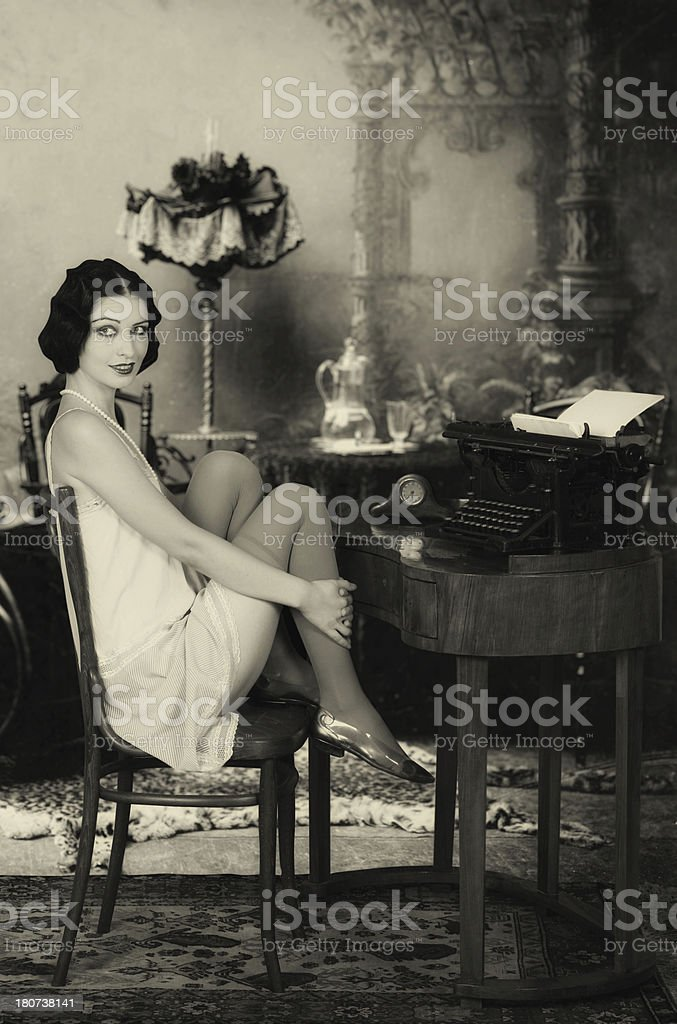 Invoking the muse stock photo