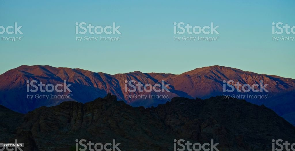 Inyo Mountains Fire stock photo