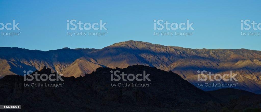Inyo Mountains Light stock photo
