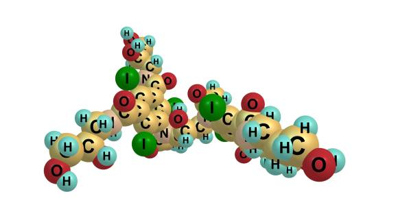 Iodixanol molecular structure isolated on white – zdjęcie