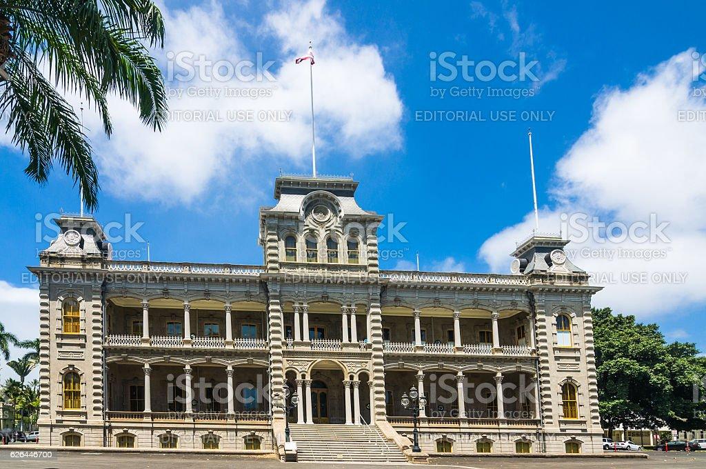 Iolani Palace Facade stock photo