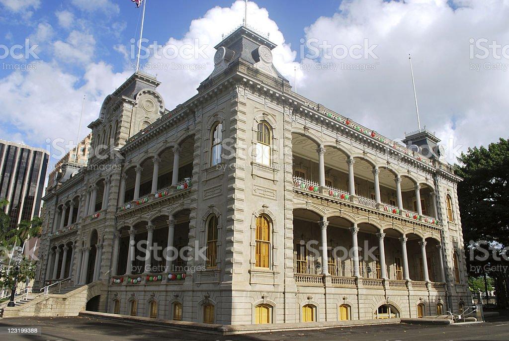 Iolani Palace, Hawaii stock photo