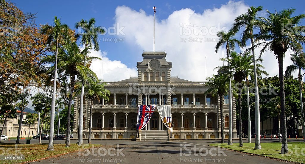 Iolani Palace - Honolulu, Hawaii royalty-free stock photo