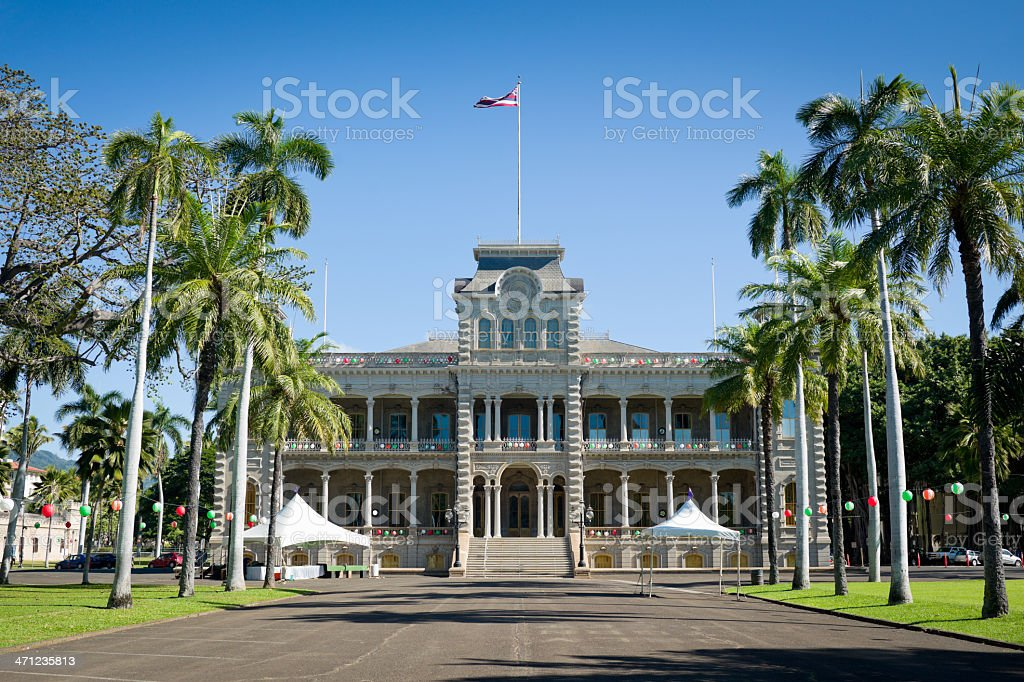 Iolani Palace - Honolulu, Hawaii stock photo