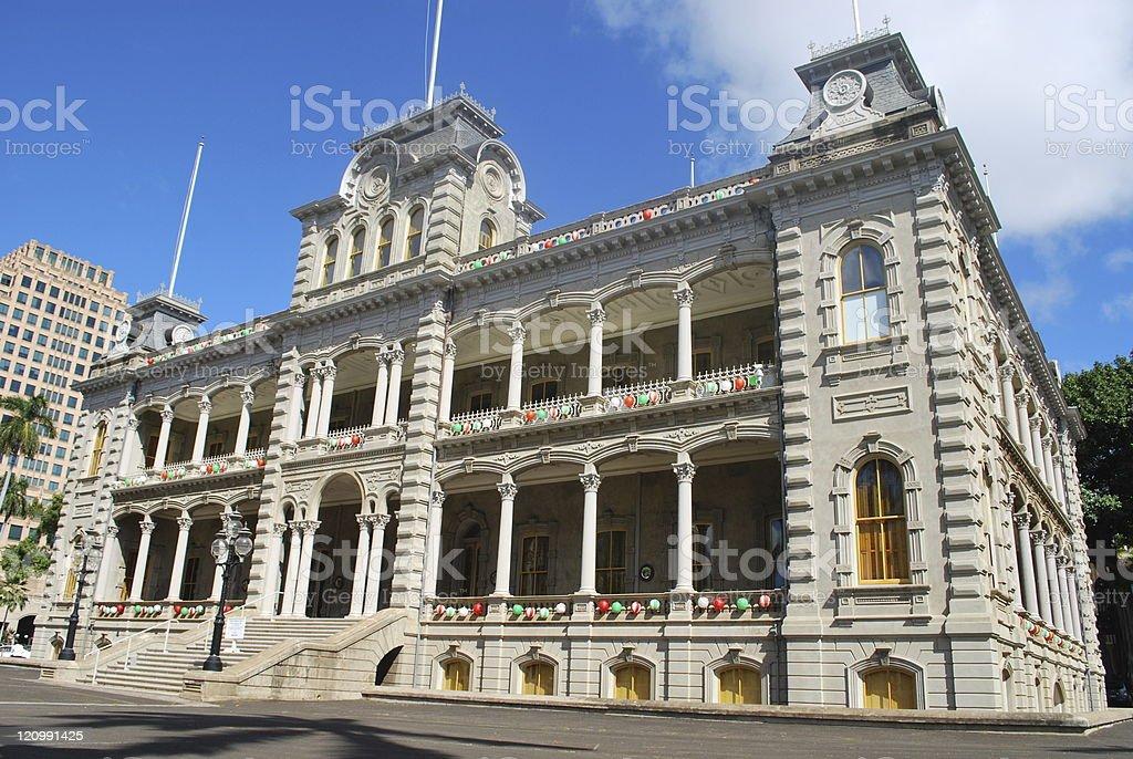 Iolani Palace in Honolulu, Hawaii stock photo