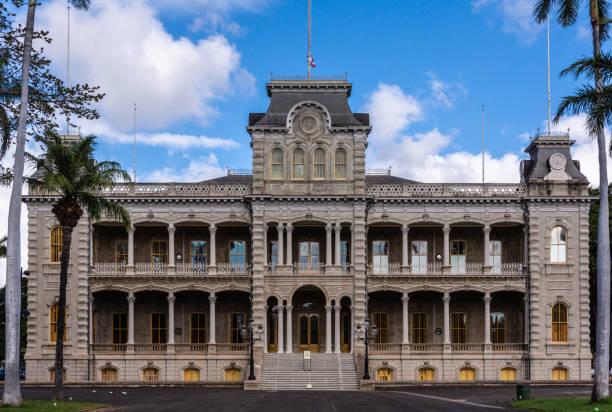 Iolani Palace in Honolulu, Hawaii, USA. stock photo