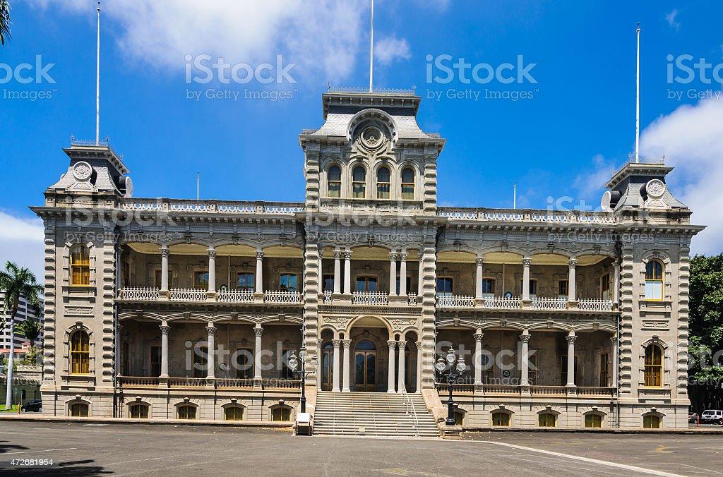 Ê»Iolani Palace stock photo