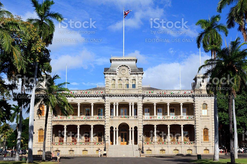 Iolani Palace stock photo