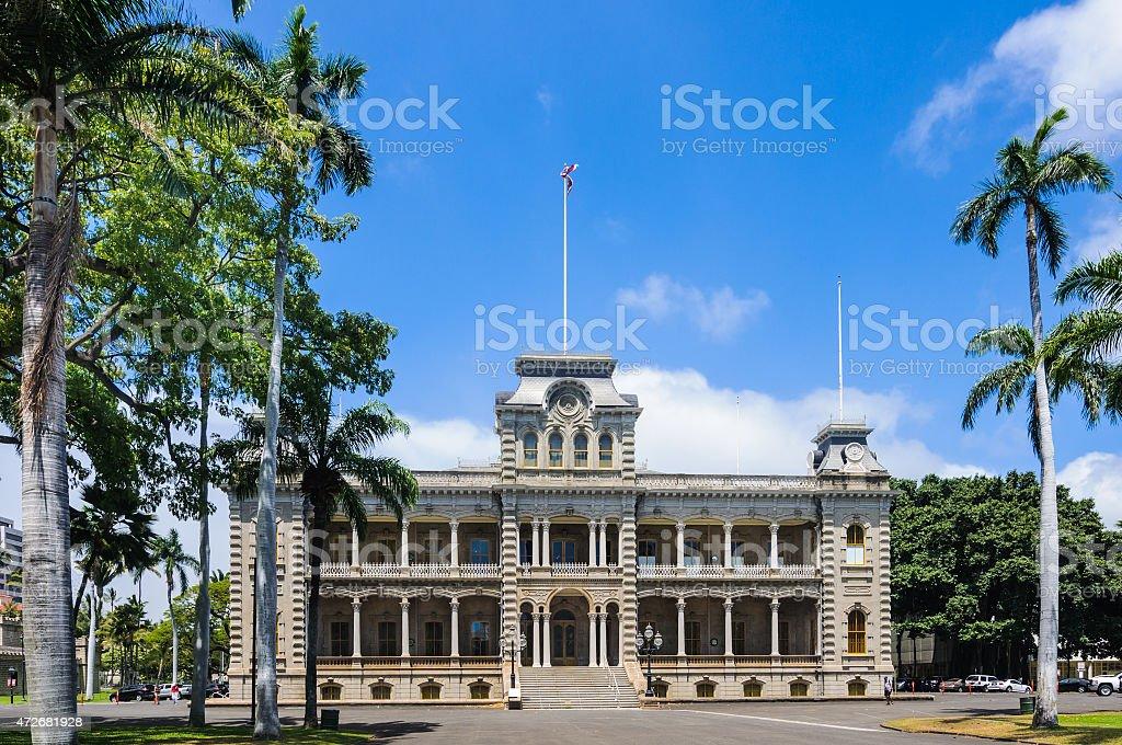 Iolani Palace- Southwest Facade stock photo