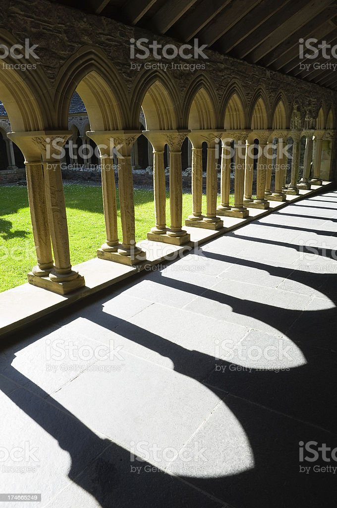 Iona abbey cloisters - Royalty-free Abbey - Monastery Stock Photo