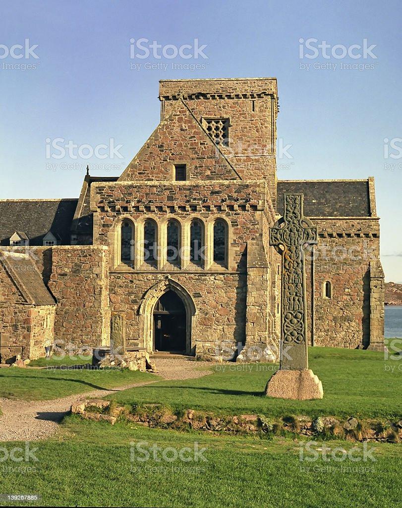 Iona Abbey royalty-free stock photo