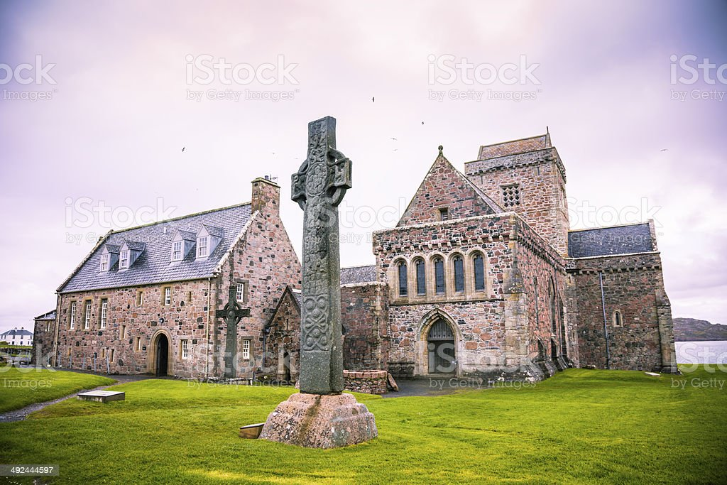 Iona Abbey stock photo