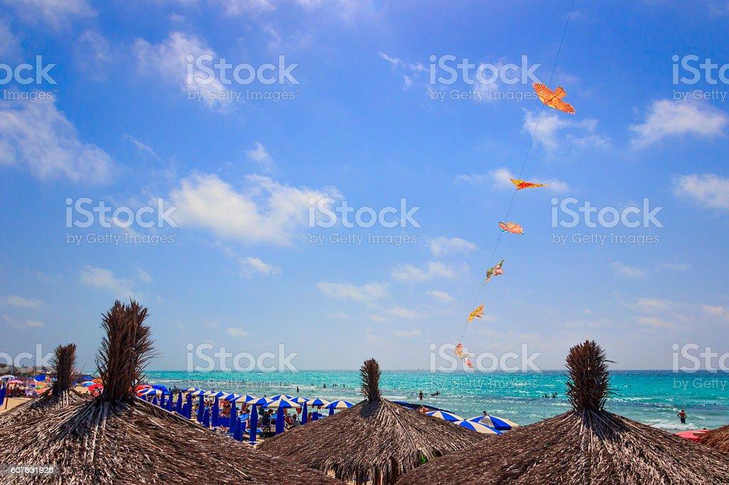 Ionian coast of Salento:Torre San Giovanni beach (Lecce).ITALY(Apulia) stock photo