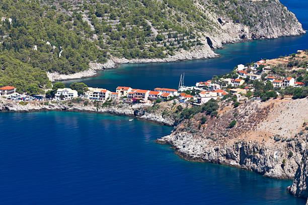 Ionian sea and Kefalonia island in Greece stock photo