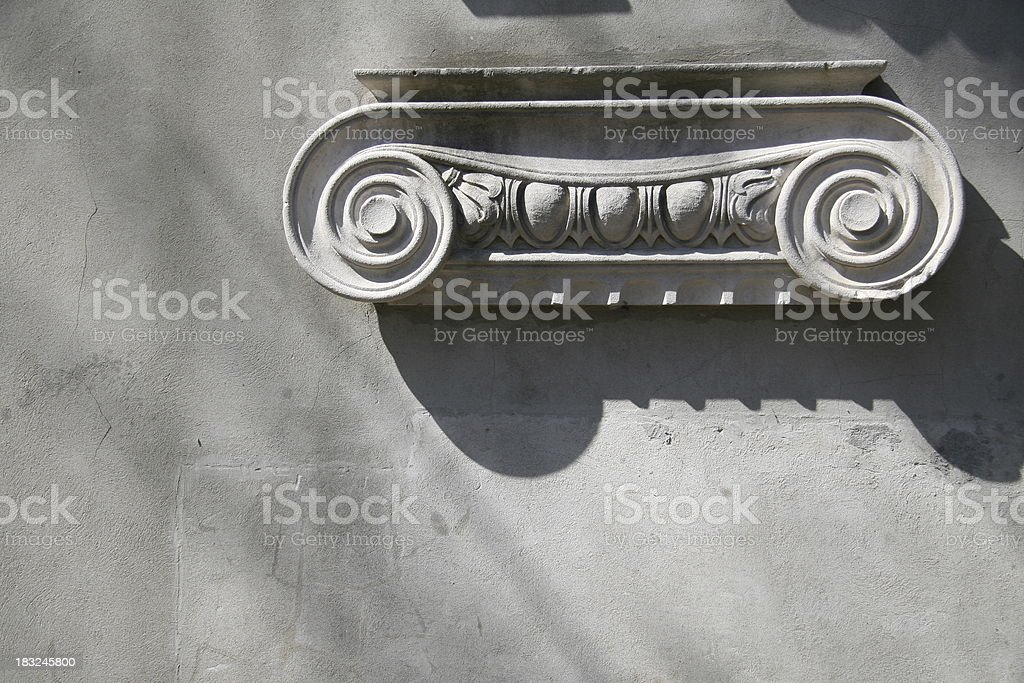 Ionic Capital / Ancient Greek Architecture royalty-free stock photo