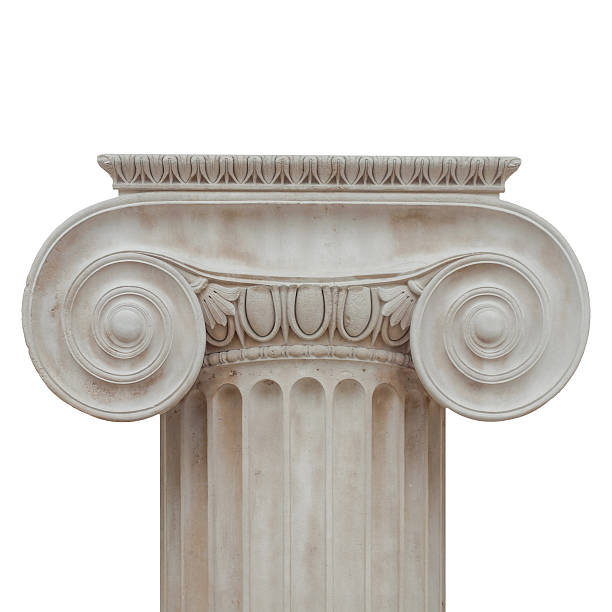 イオニア式の首都絶縁 - 柱頭 ストックフォトと画像