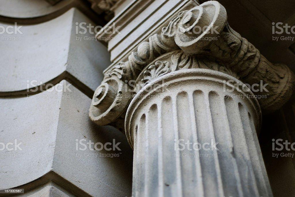 Ionic capital royalty-free stock photo
