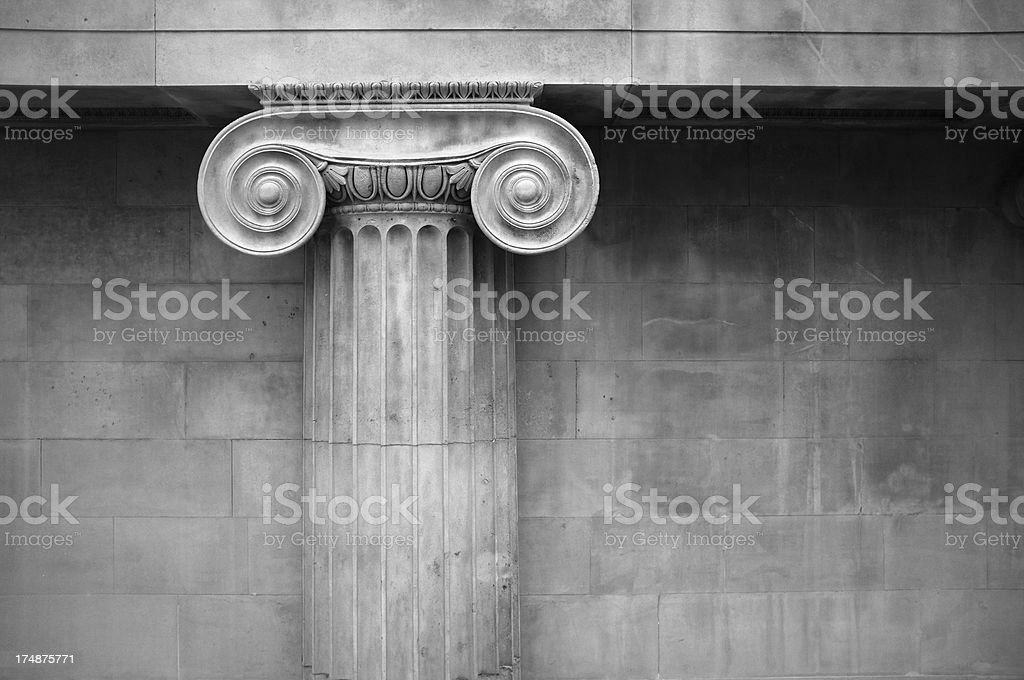 Ionic Column Capital royalty-free stock photo
