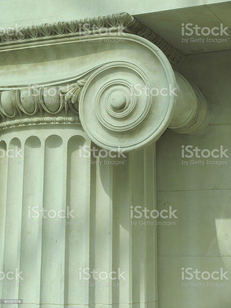 Ionic Column Capital royalty-free stock photo