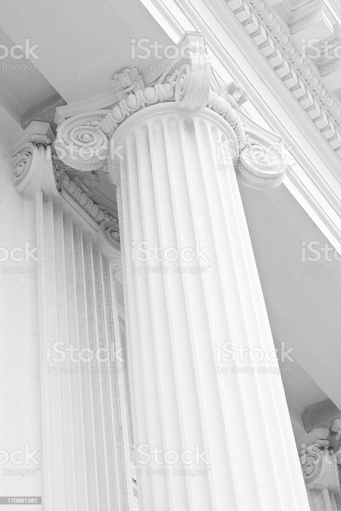 Ionic Column Classic Greek Architecture royalty-free stock photo