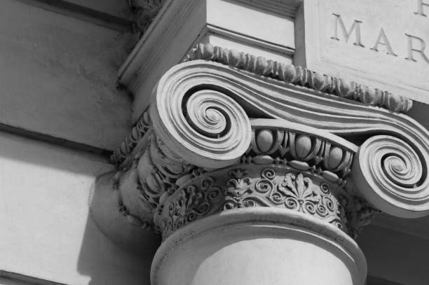 Ionic column detail - foto stock