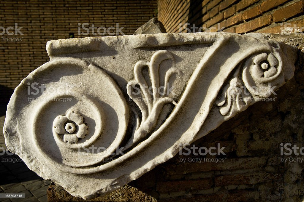 ionic column in Rome Italy royalty-free stock photo