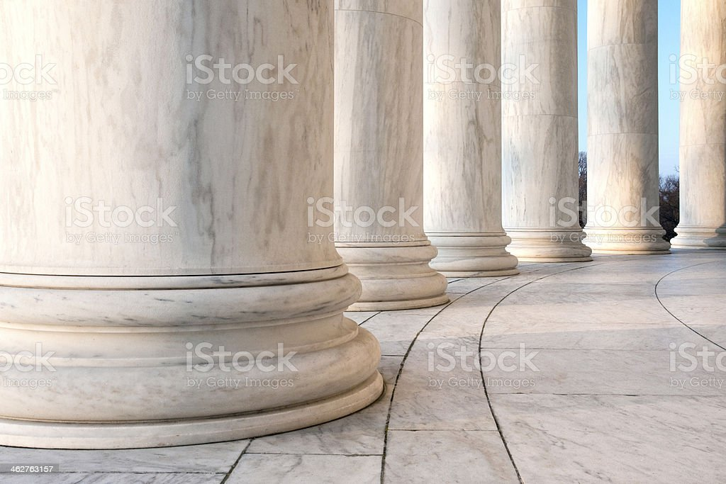 Ionic Columns at Jefferson Memorial stock photo