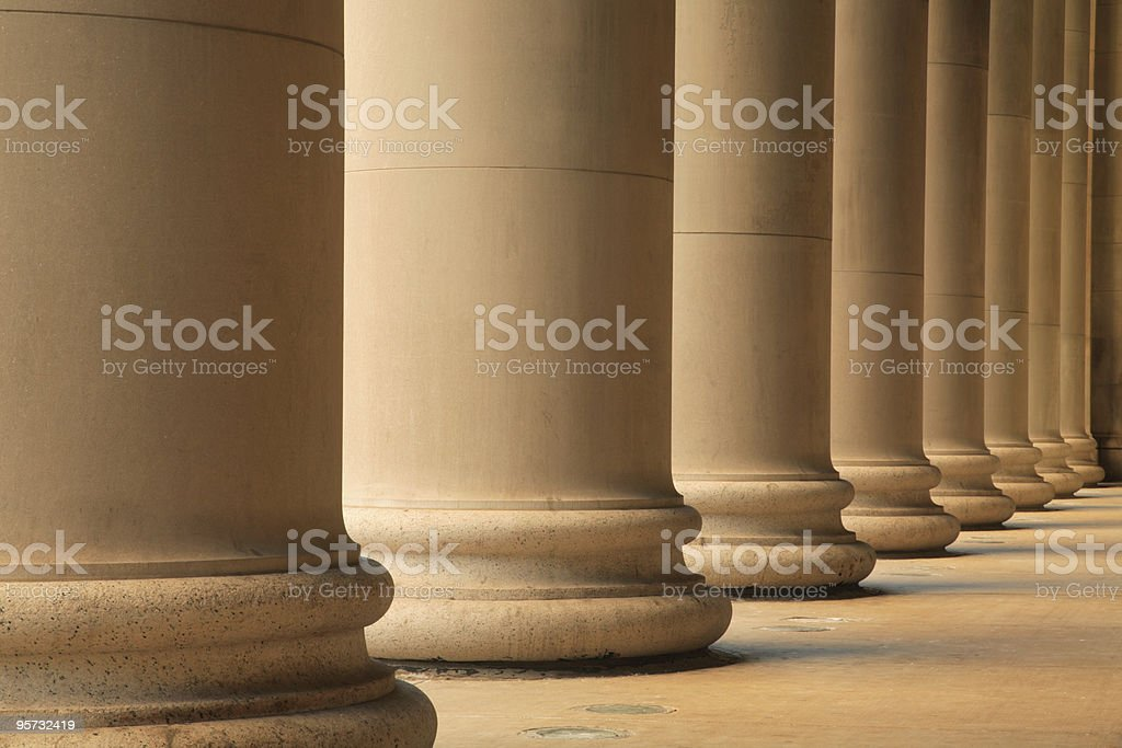 Ionic columns forming portico royalty-free stock photo