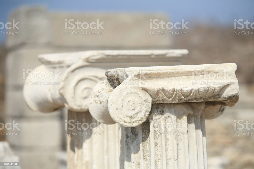 Ionic columns in a row royalty-free stock photo