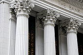 istock Ionic columns of a bank building 148225641