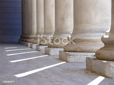 Ionic columns at Palace of the Legion of Honor in San Francisco.