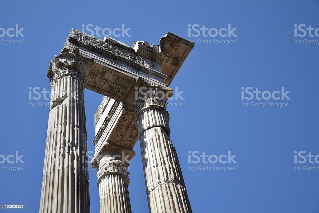 Ionic Columns royalty-free stock photo