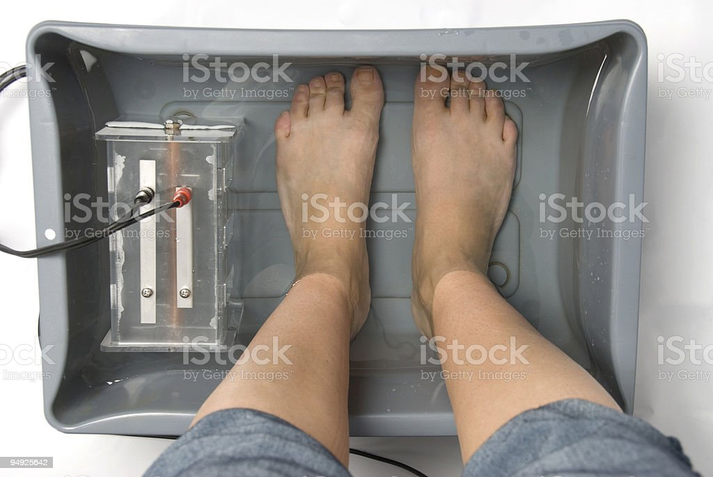 Ionic Foot Bath stock photo