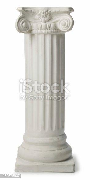 Greek Ionic column made of plaster of paris