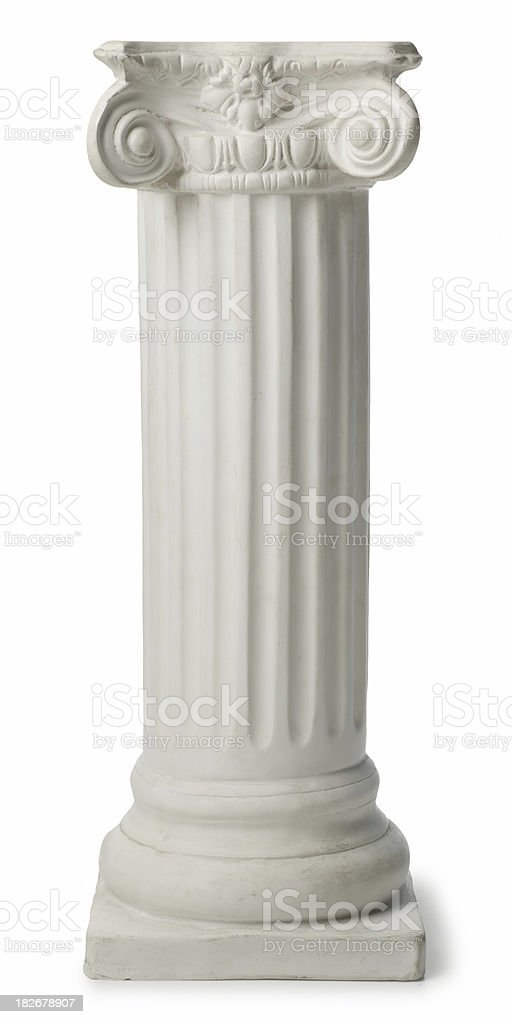 Ionic Greek Column or Pedestal stock photo