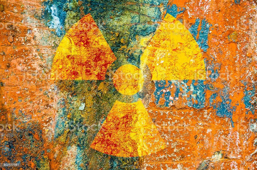 Ionizing Radiation Symbol stock photo