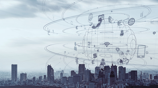 istock IoT (Internet of Things) and smart city concept. 1140691199
