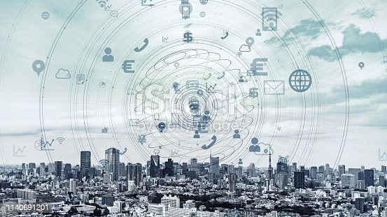 istock IoT (Internet of Things) and smart city concept. 1140691201