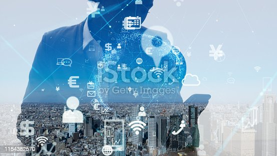 1054574034istockphoto IoT (Internet of Things) concept. Business and technology. 1154382570